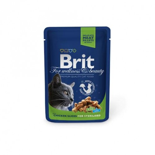 Brit Premium Sterilised Cat Pui 100 g 1