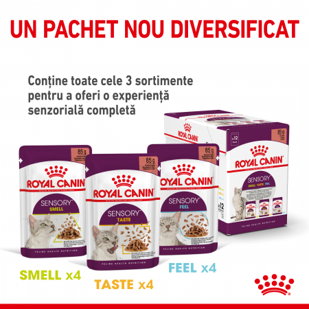 Royal Canin Sensory Feel, hrana umeda pisici, stimularea simtului tactil (in sos), 12 x 85 g [4]