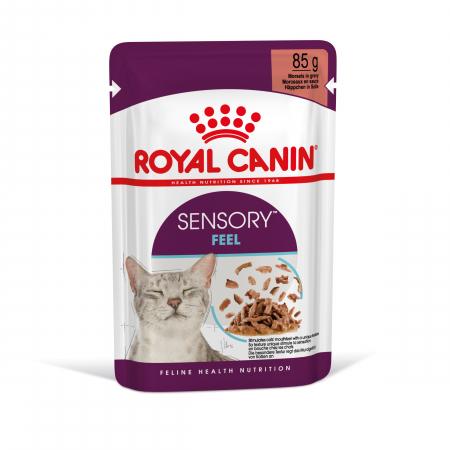 Royal Canin Sensory Feel, hrana umeda pisici, stimularea simtului tactil (in sos), 12 x 85 g [9]