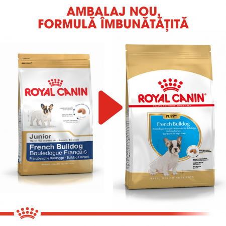 Royal Canin French Bulldog Puppy hrana uscata caine junior, 3 kg4