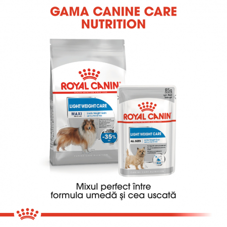 Royal Canin Maxi Maxi light weight care Hrana Uscata Caine5
