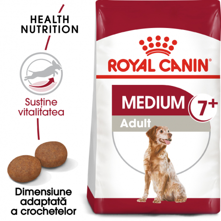 Royal Canin MEDIUM Adult 7+ Hrana Uscata Caine0
