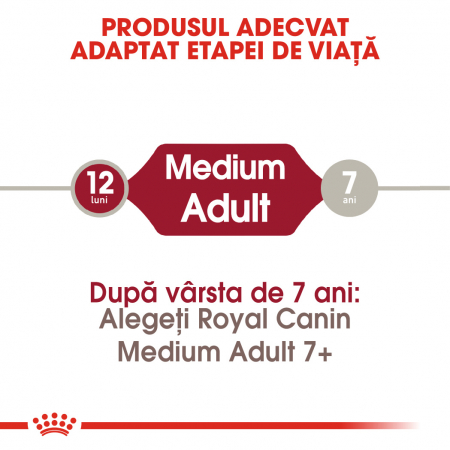 Royal Canin MEDIUM Adult Hrana Uscata Caine1