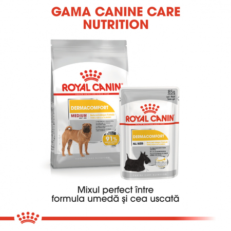 Royal Canin Medium Dermacomfort Hrana Uscata Caine5