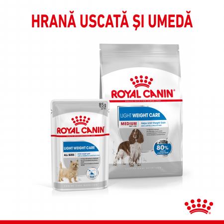 Royal Canin MEDIUM LIGHT WEIGHT CARE Hrana Uscata Caine1