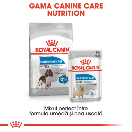 Royal Canin MEDIUM LIGHT WEIGHT CARE Hrana Uscata Caine5