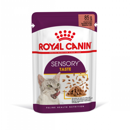 Royal Canin Sensory Taste, hrana umeda pisici, stimularea gustului (in sos), 12 x 85 g [1]