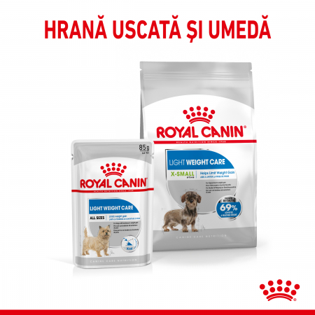 Royal Canin XSmall Light Weight Care Adult hrana uscata caine, limitarea cresterii in greutate, 1.5 kg [3]