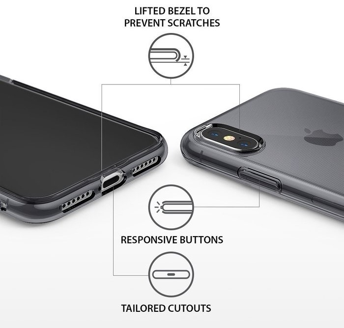 Husă Ringke Air Smoke Black pentru iPhone X 2