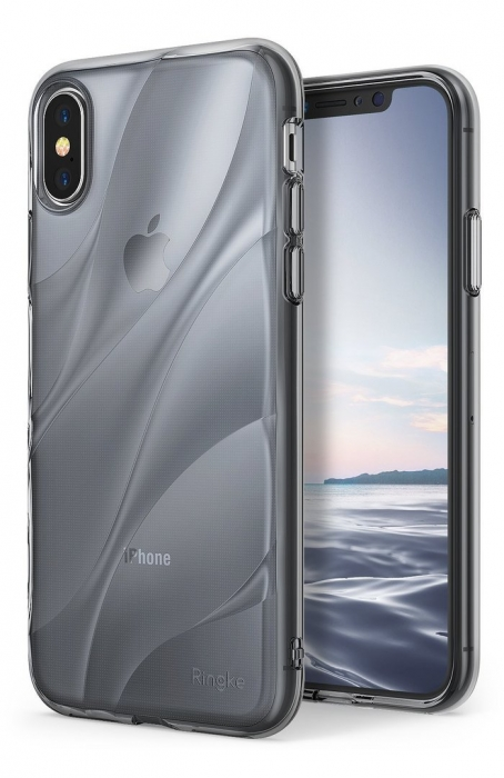 Husă Ringke Flow Smoke Black pentru iPhone X 7