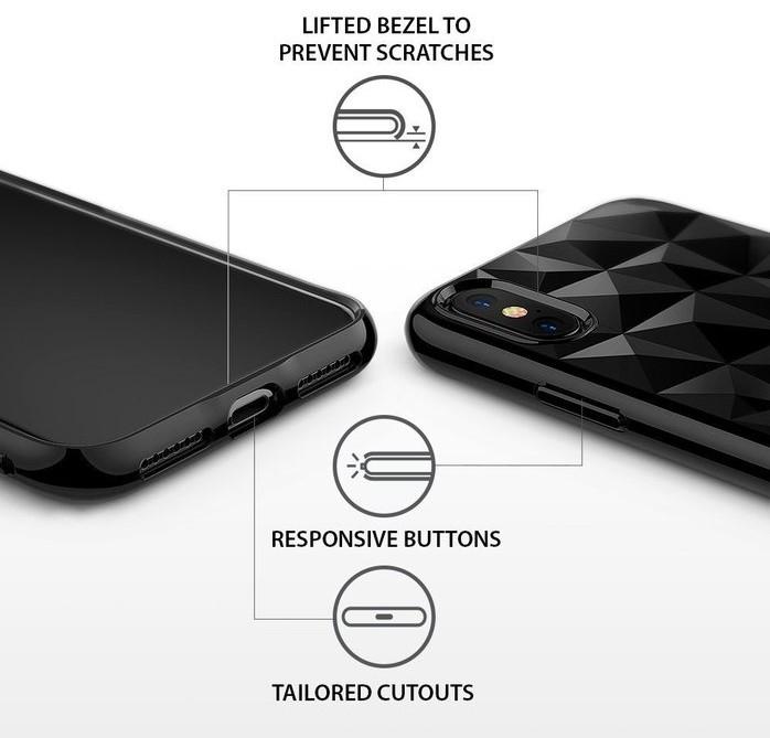 Husă Ringke Prism Ink Black pentru iPhone X 7