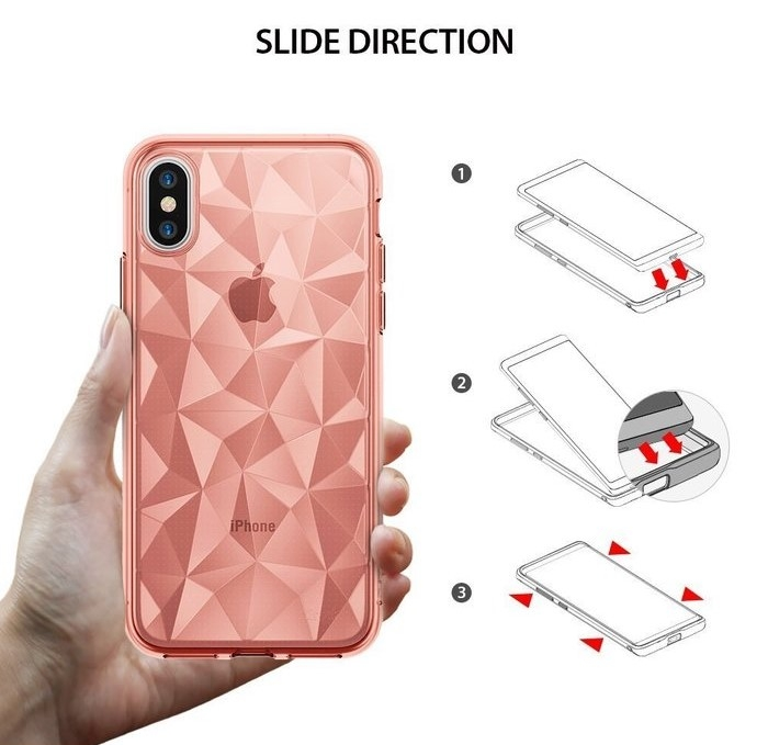 Husă Ringke Prism Rose Gold pentru iPhone X 4
