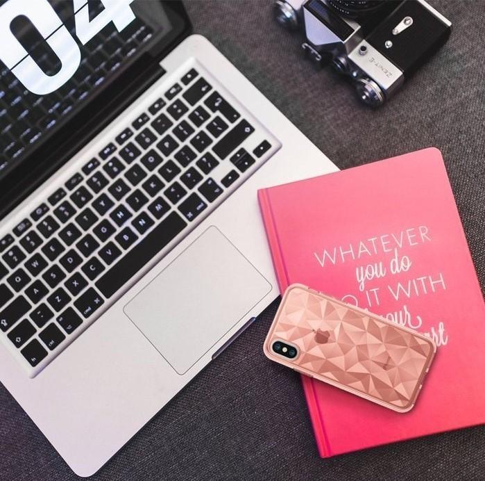 Husă Ringke Prism Rose Gold pentru iPhone X 7