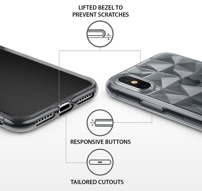 Husă Ringke Prism Smoke Black pentru iPhone X 4