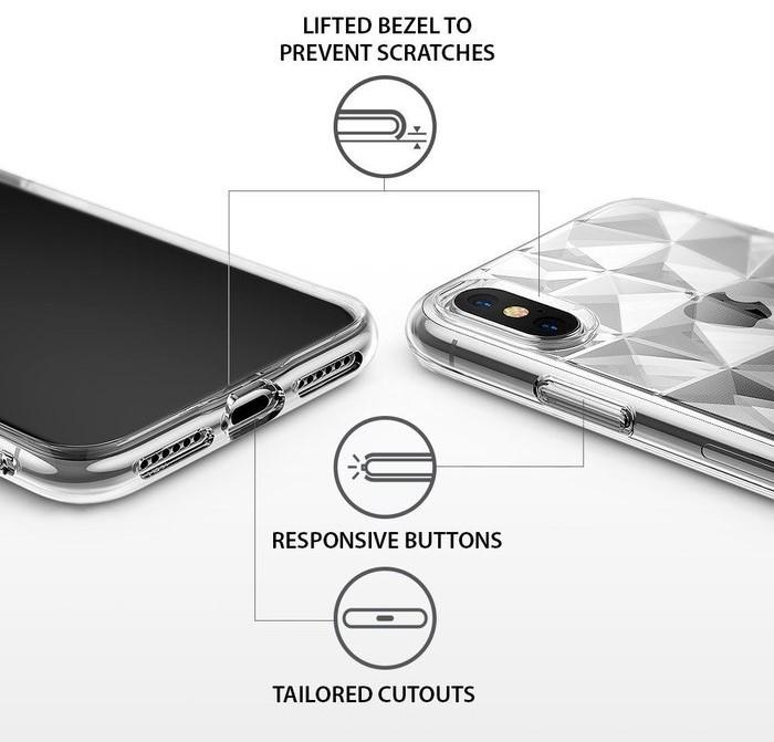 Husă Ringke Prism Clear pentru iPhone X 5