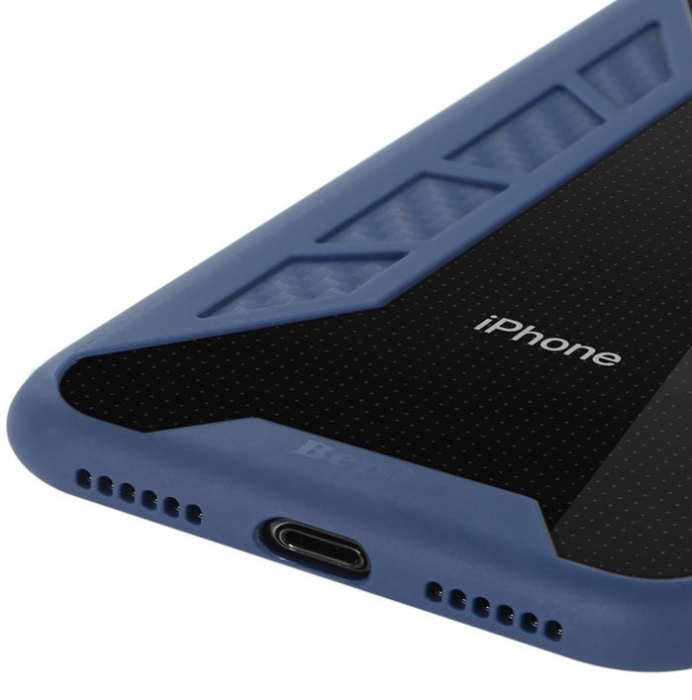 Husa Benks Future 3D Full ALBASTRU pentru iPhone X 3