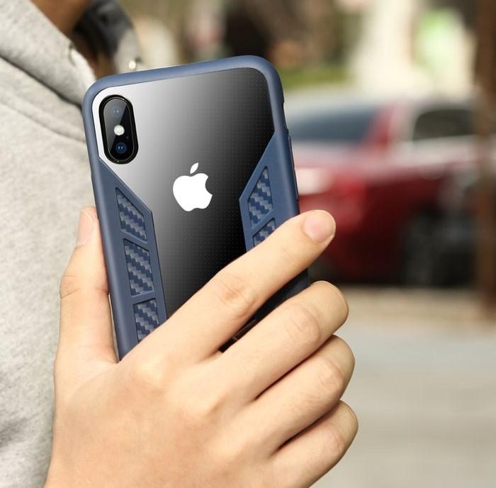 Husa Benks Future 3D Full ALBASTRU pentru iPhone X 4