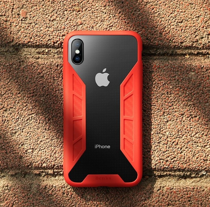 Husa Benks Future 3D Full ROSU pentru iPhone X 3