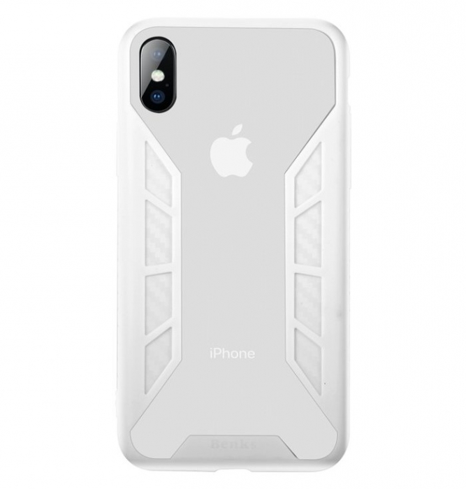 Husa Benks Future 3D Full ALB pentru iPhone X 0