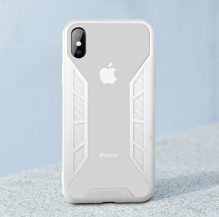 Husa Benks Future 3D Full ALB pentru iPhone X 3