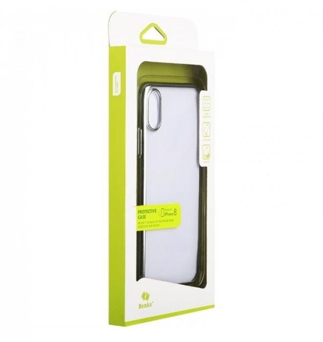 Husa Benks iPhone X Electroplated Negru pentru iPhone X 8