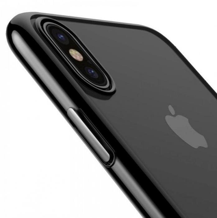 Husa Benks iPhone X Electroplated Negru pentru iPhone X 3