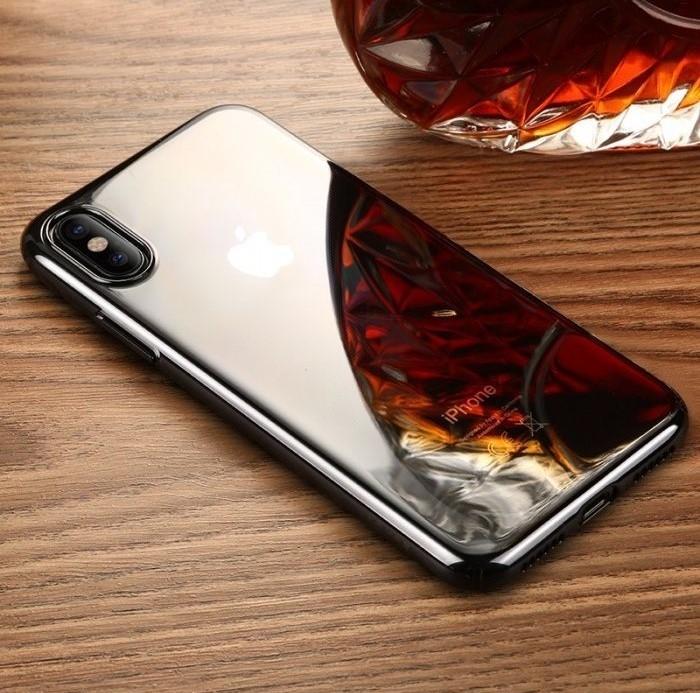Husa Benks iPhone X Electroplated Negru pentru iPhone X 7