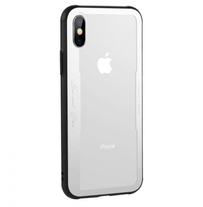 Husa Benks Shiny Glass Alb pentru iPhone X 0
