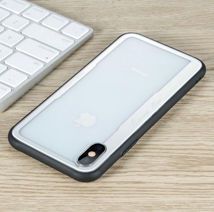 Husa Benks Shiny Glass Alb pentru iPhone X 3