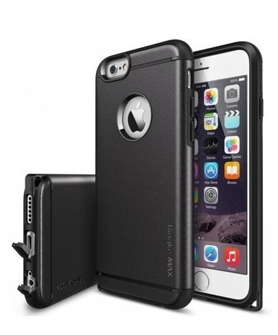 Husa Ringke ARMOR MAX NEGRU+BONUS folie protectie display Ringke pentru iPhone 6 / 6s 0