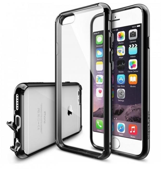 Husa Ringke FUSION NEGRU+BONUS folie protectie display Ringke pentru iPhone 6 / iPhone 6s 0