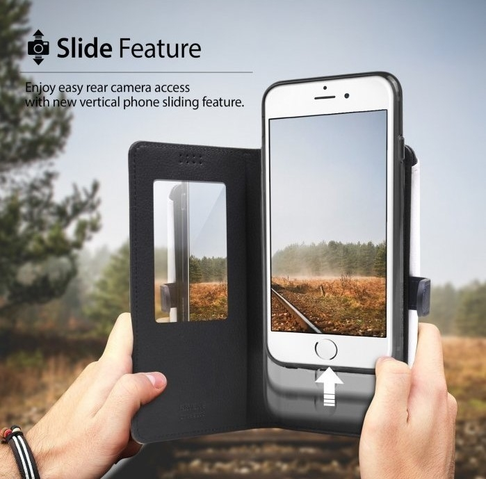 Husa Ringke WALLET NEGRU pentru  iPhone 6 / iPhone 6s 3