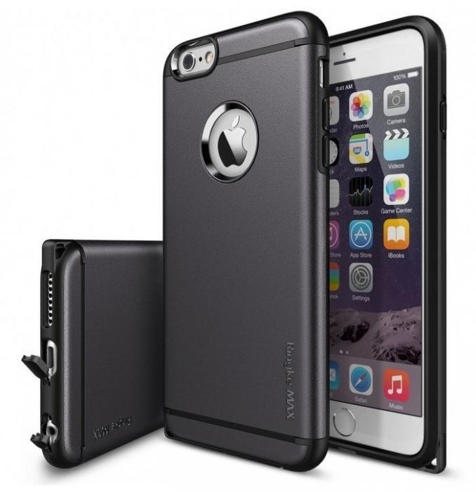 Husa Ringke ARMOR MAX GUN METAL+BONUS Ringke Invisible Defender Screen Protector pentru iPhone 6 Plus / 6s Plus 0