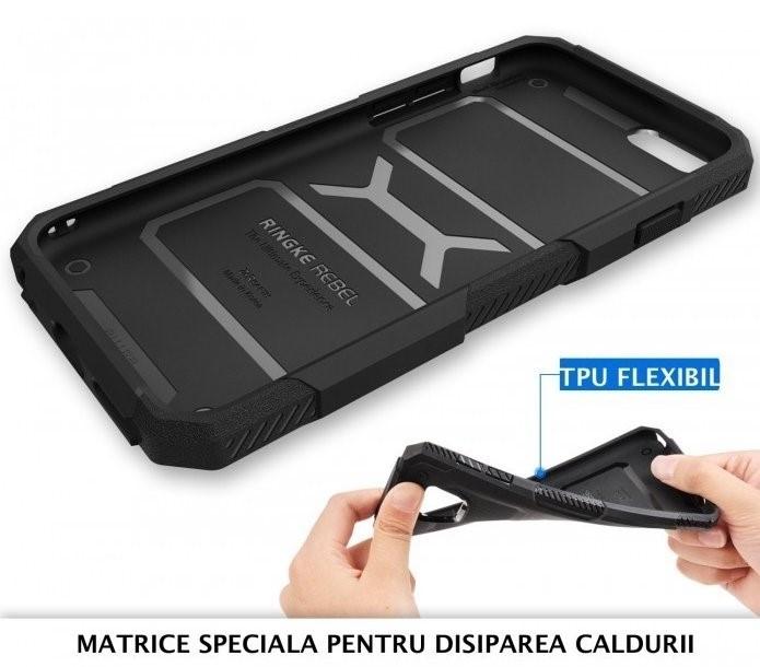 Husa Ringke REBEL BLACK + folie Ringke cadou pentru iPhone 6 Plus / 6s Plus 5