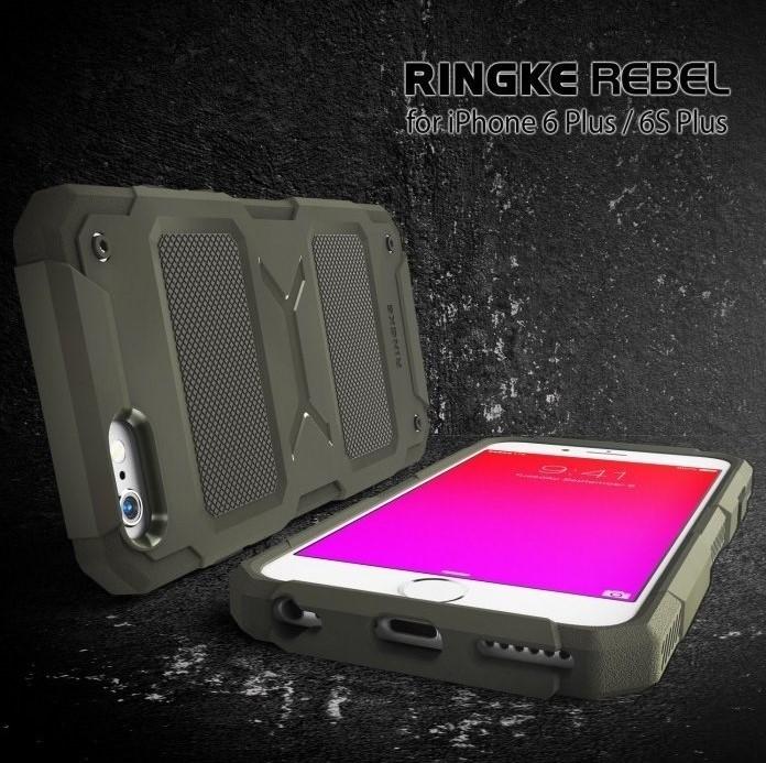 Husa Ringke REBEL BLACK + folie Ringke cadou pentru iPhone 6 Plus / 6s Plus 4