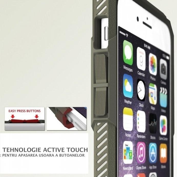 Husa Ringke REBEL BLACK + folie Ringke cadou pentru iPhone 6 Plus / 6s Plus 2