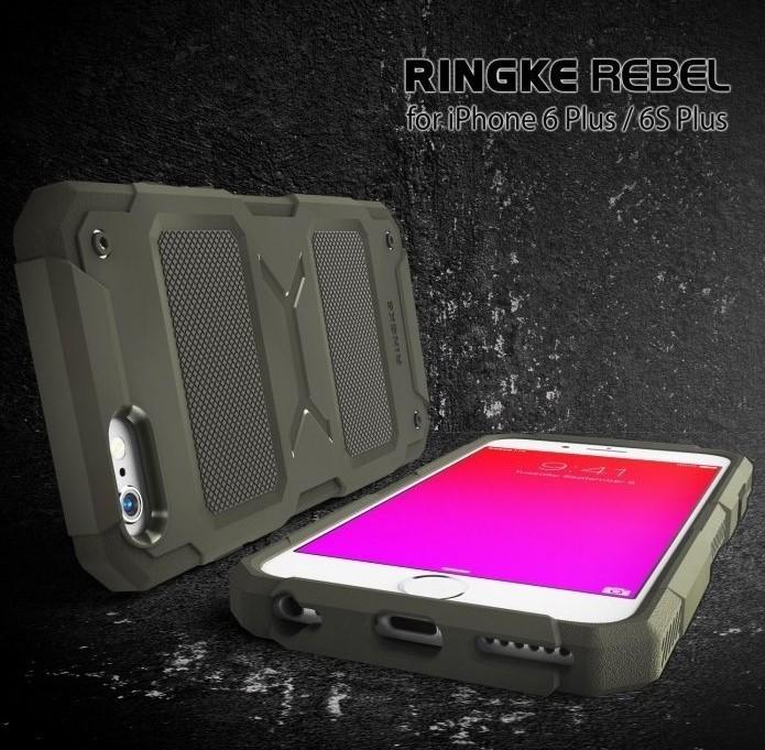 Husa Ringke REBEL GREY + folie Ringke cadou pentru iPhone 6 Plus / 6s Plus 4