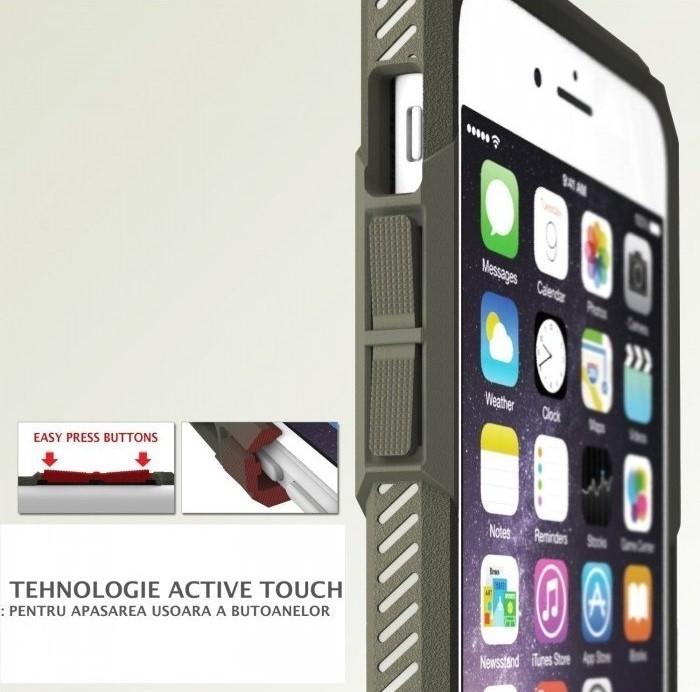 Husa Ringke REBEL GREY + folie Ringke cadou pentru iPhone 6 Plus / 6s Plus 2