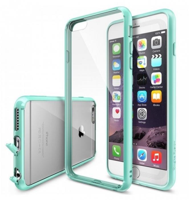 Husa Ringke FUSION MINT+BONUS Ringke Invisible Defender Screen Protector pentru iPhone 6 Plus / iPhone 6s Plus 0
