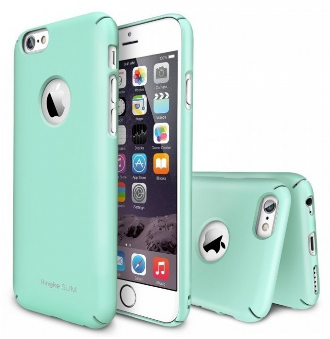Husa Ringke SLIM MINT LOGO CUT+BONUS folie protectie display Ringke pentru  iPhone 6 0