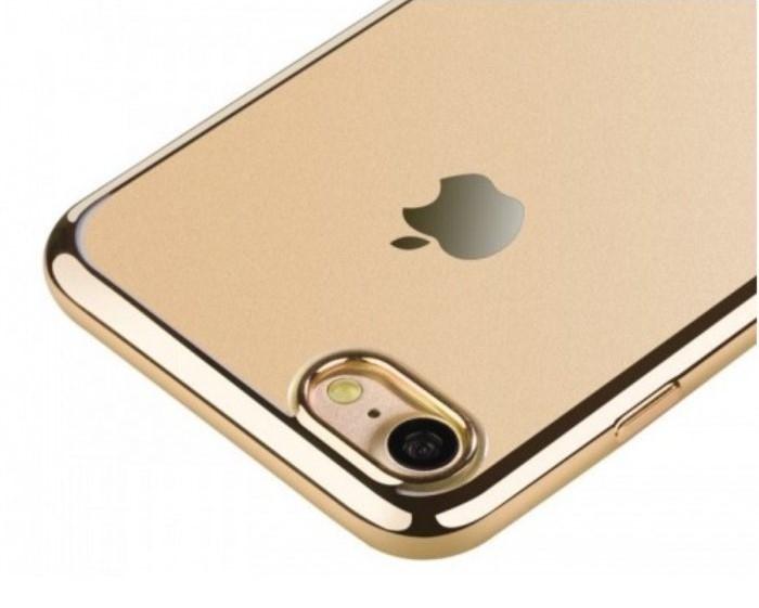 Husa  Benks Magic Glitz TRANSPARENT-AURIU pentru iPhone 7  iPhone 8 4