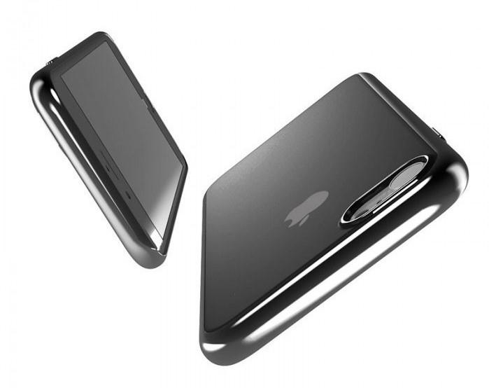 Husa Benks Magic Glitz TRANSPARENT - NEGRU pentru iPhone 7  iPhone 8 0