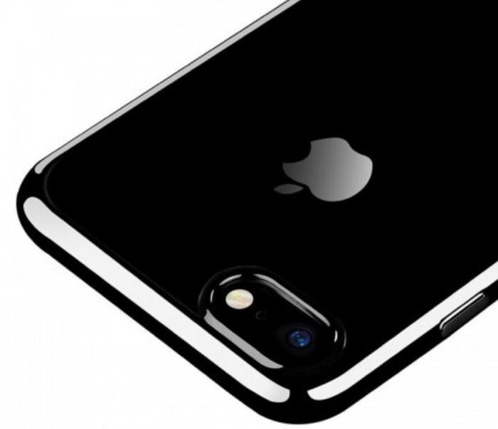 Husa Benks Magic Glitz TRANSPARENT - NEGRU pentru iPhone 7  iPhone 8 3