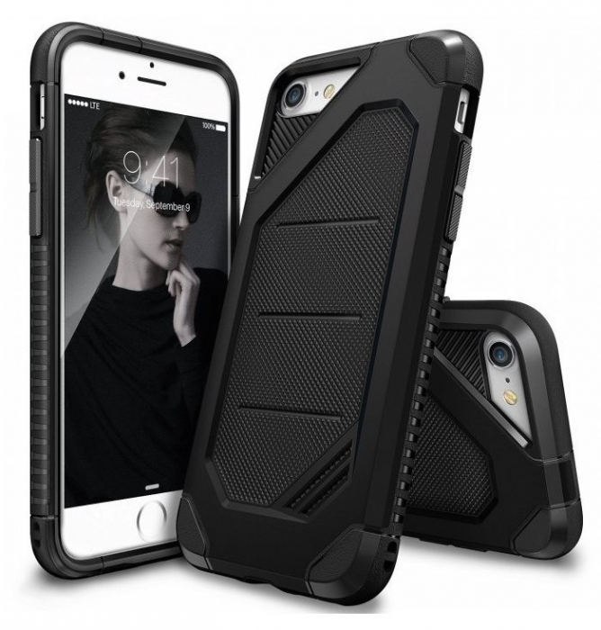 Husa Ringke ARMOR MAX BLACK pentru iPhone 7  iPhone 8 0