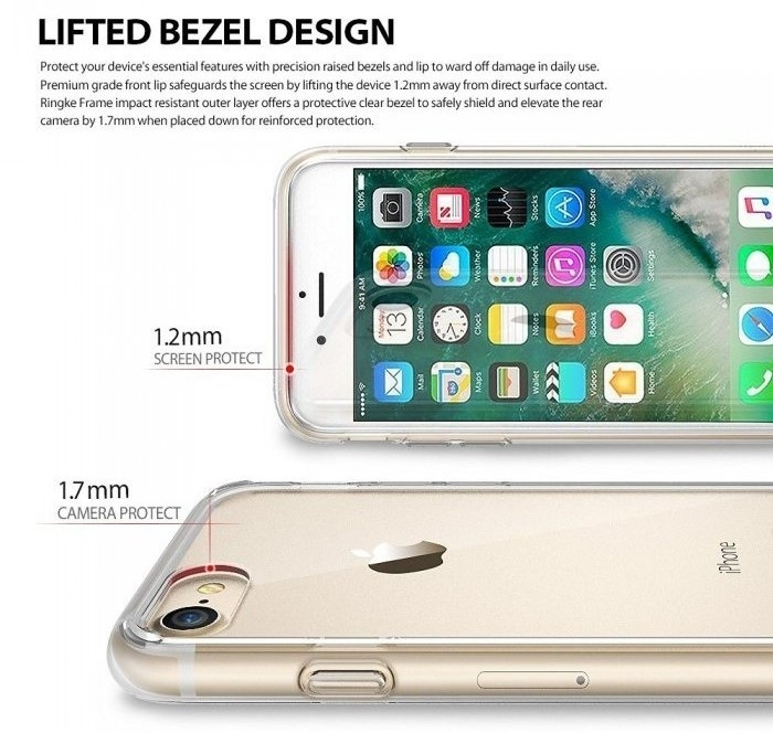 Husa Ringke FUSION ROSE GOLD pentru  iPhone 7  iPhone 8 3