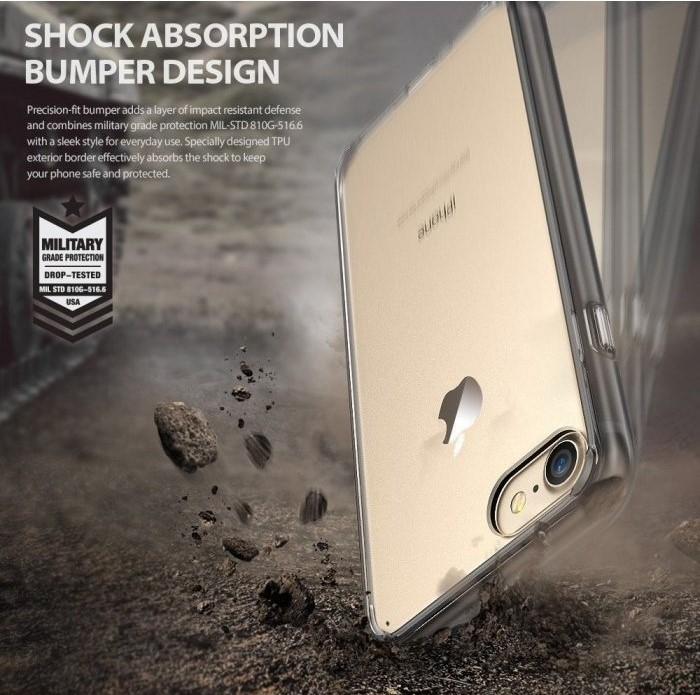 Husa Ringke FUSION ROSE GOLD pentru  iPhone 7  iPhone 8 4