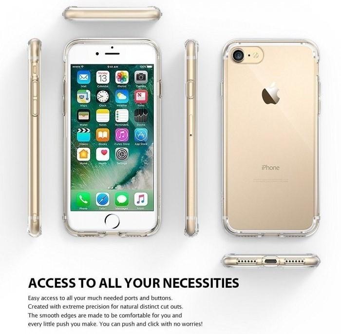 Husa Ringke FUSION SMOKE BLACK pentru iPhone 7  iPhone 8 5