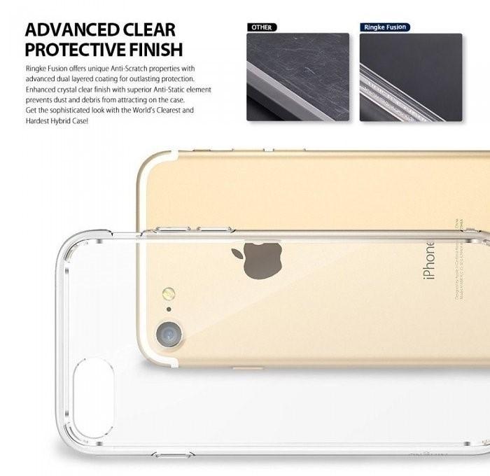 Husa Ringke FUSION SMOKE BLACK pentru iPhone 7  iPhone 8 4