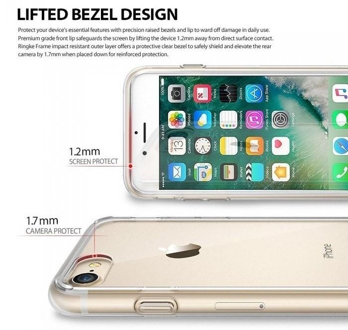Husa Ringke FUSION SMOKE BLACK pentru iPhone 7  iPhone 8 3