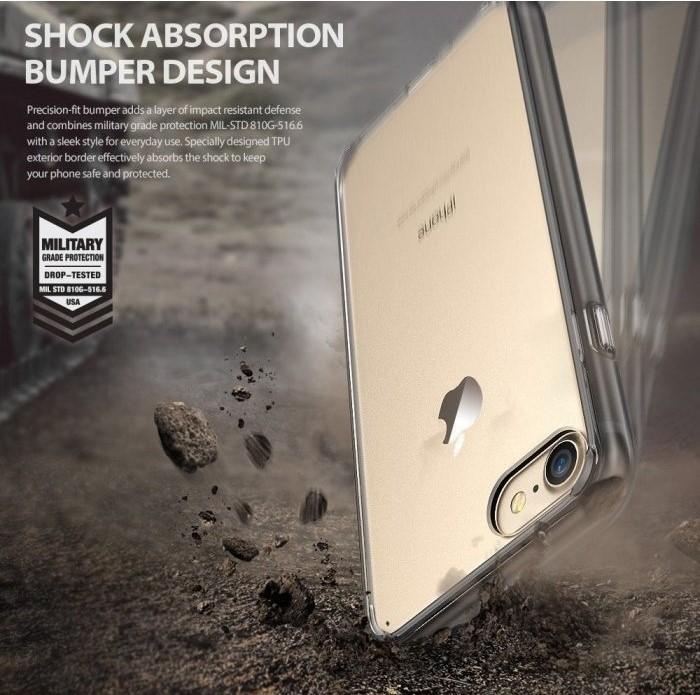 Husa Ringke FUSION SMOKE BLACK pentru iPhone 7  iPhone 8 2